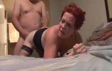 Ass fucking with redhead mature slut