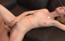 Beautiful Marie McCray fucks on couch