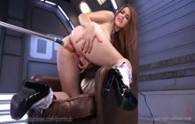 Amarna Miller has multiple orgasms with fucking machine