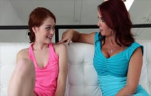 Making love with her busty redhead stepmom