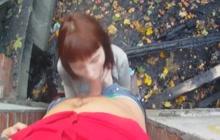 Redhead girl POV blowjob