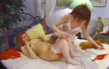 Pregnant slut in lesbian video